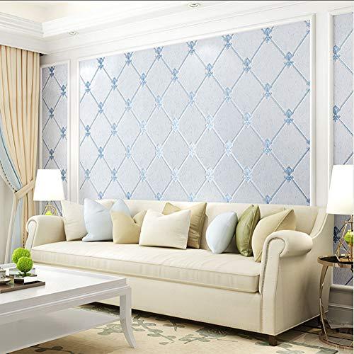 Europäischen Stil Wohnzimmer TV Hintergrund Wanddekoration Tapete 3D Verdickung Vlies Feuchtraumtapete Papel De Parede-450X300CM