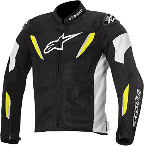Alpinestars T-GP R Air Textile Men's Riding Jacket (Black/White/Yellow)