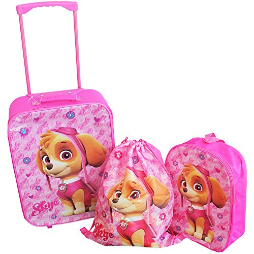 Luggage Set Paw Patrol - Skye - 3 Piece Pink