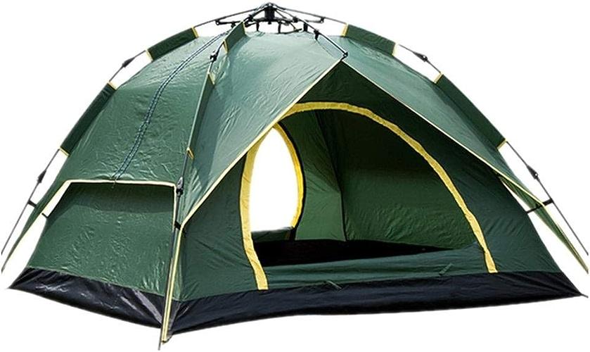 Anat Tente de Camping 3-4 Personnes [Tente instantanée] étanche [Pop Up] [InsTailletion Rapide] Tente de Plage familiale 3 Saisons Prougeection UV avec Sac