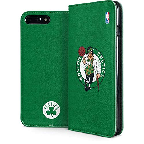 Skinit Folio Phone Case Compatible with iPhone 7 Plus - Officially Licensed NBA Boston Celtics Green Primary Logo Design