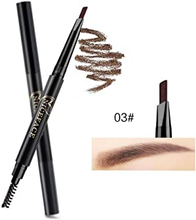 Gijoki Double-heads Automatic Rotation Natural Long-lasting Waterproof Eyebrow Pencil Liner & Shadow Combinations