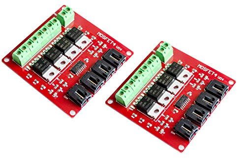 TECNOIOT 2pcs Four Channel 4 Route MOSFET Button IRF540 V4.0 + MOSFET Switch Module