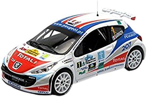 Ixo - Ram287 - Véhicule Miniature - Modèle à L'échelle - Peugeot 207 S2000 - Rallye Casinos Algarve 2007 - Echelle 1 43