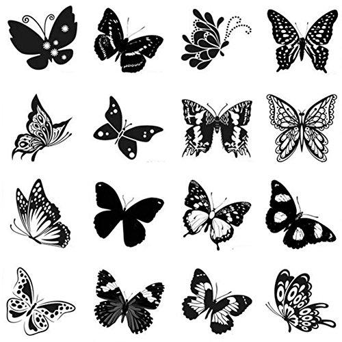 Stickers hommes et des tatouages temporaires Femmes Waterproof Papillon-A392
