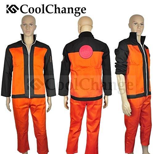 CoolChange Naruto Ninja Uzumaki Kostüm mit Jacke und Hose (M)