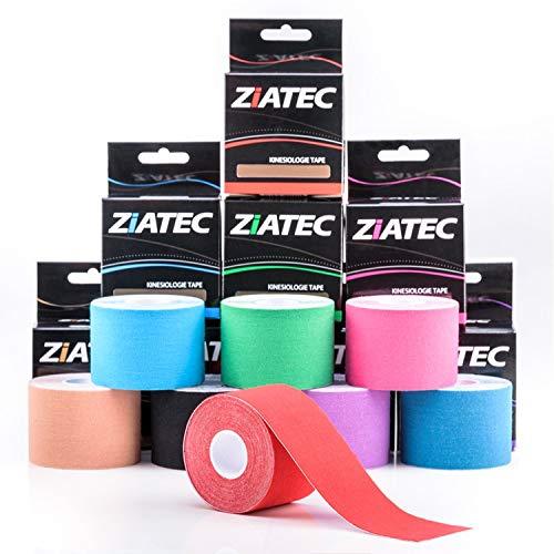 Cinta de Kinesiología ZiATEC Pro | Cinta deportiva elástica e impermeable, cinta de fisio, kinesio-tape (4,5 m x 5 cm), 100% algodón, varios colores, color:2 x beige
