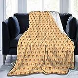 ZOANEN Soft Fleece Throw Blanket,Patrón mínimo de Dibujos Animados de Perros Basenji bebé y Huellas,Home Hotel Sofá Cama Sofá Mantas para Parejas Niños Adultos,150x200cm