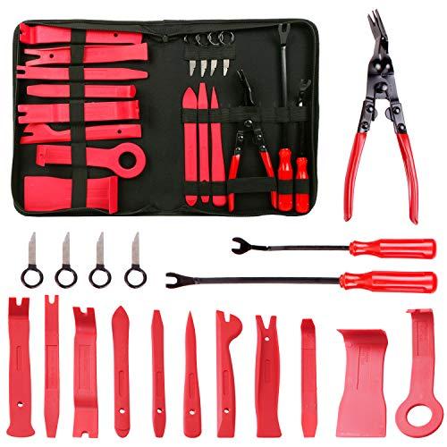 CCLIFE 18 tlg Demontage Werkzeug Auto Zierleistenkeile Verkleidungs Werkzeug Innen-Verkleidung Ausbau Lösewerkzeug