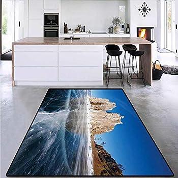Room Home Bedroom Carpet Floor Mat Lake Baikal in Siberia Door mat Indoors Bathroom Mats Non Slip 6 6 x10