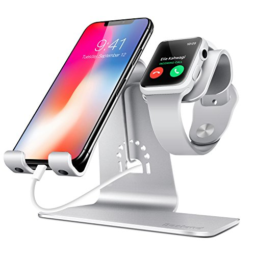 Bestand 2 in 1 Apple iwatch Charging Stand Holder& Phone Desktop Tablet Dock for Apple Watch/iPhone...