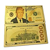 blinkee 1000 USD Commemorative President Donald Trump Collectible Gold Plated Fake Bank Note