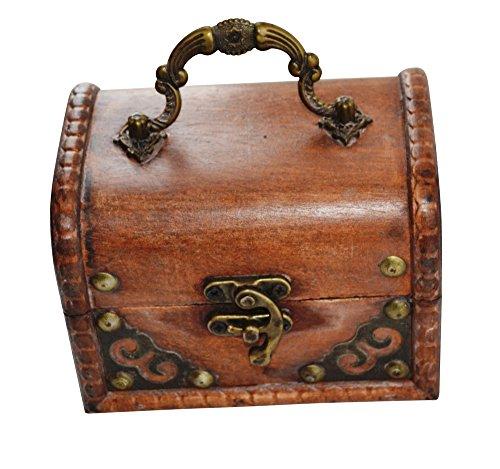 EAST-WEST Trading GmbH Piratenschatztruhe, rund aus Holz