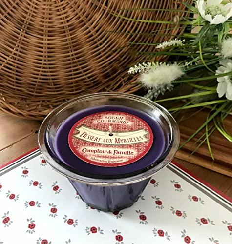 Comptoir de Famille Bougie Gourmande Senteur Dessert aux myrtilles