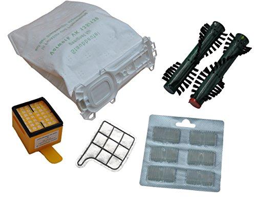 12bolsas de tela. + Filtro higiénico + Filtro de protección del motor + 2x aroma +. Cepillos EB 360. Para Vorwerk–Kobold 135/136/135sc/VK135y VK136