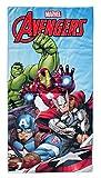 Marvel Avengers Toalla de Playa para niños, Micro poliéster, 140 x 70 cm