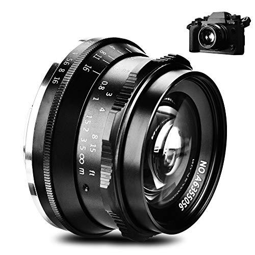 Topiky 35mm F / 1.2 Lente Enfoque Fijo Manual para Canon para Sony para Fujifilm M4 / 3 Monte cámaras sin Espejo(para Canon)