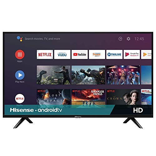 Hisense 32-Inch 32H5500F Class H55 Series Android Smart TV with Voice Remote (2020 Model) (Renewed)