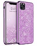 BENTOBEN Funda iPhone 11 Pro MAX, Ultra Delgada Brillante Purpurina Resistente Silicona PC...