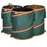 GARDEBRUK - 3x Sac de déchets de jardin 85L max. 30kg par sac tissu renforcé hydrofuge ordures bac
