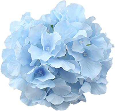Hydrangea Artificial Flowers Wedding,Silk Hydrangea Heads with Stems for Home Decor Wedding Party Pack of 10,Hydrangea Silk Flowers Bouquets