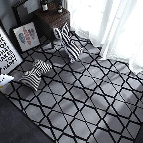 DDFGDFSA Nordic Moderne Teppich Polyester Teppich und Teppiche für Wohnzimmer Boden Kind Kinder Spielmatte Schlafzimmer Badezimmer Home Fußmatte,1,M