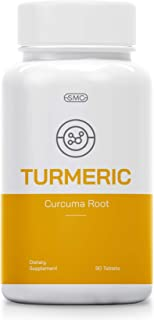 Powerful 700MG Turmeric Curcuma Root Powder Pills with Organic Black Pepper Supplement 90 Tablets. Potent Pain Relief, Anti-Inflammatory, Antioxidant, Joint Support. Improves Depression, Arthritis