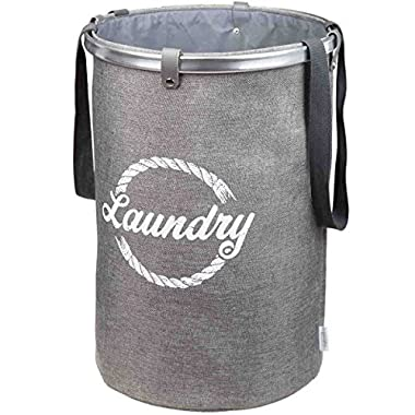 Mavoro Foldable Laundry Hamper | Collapsible Storage Basket, Folding Washing Bin, Foldable Clothes Bag, Lightweight and Sturdy Hamper with Strong Handles, Easy to Use, Easy to Fold, Easy to Clean