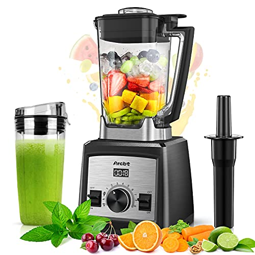 Blender for Shakes and Smoothies, Crushing ice, Frozen Fruit, Arcbt 1450W Professional Large Countertop Blender with 72oz Tritan BPA-Free Jar, Smoothie Maker for Kitchen, 9-Speed Control & Pulse
