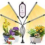 Garpsen Plant Light, Upgraded Full Spectrum Led Grow Lights, 80 LEDs 660nm/3000K/5000K Grow Lights for Indoor Plants, 10 Dimming Level & 4 Heads Grow Lamp with Timer for Seedlings and Greenhouse