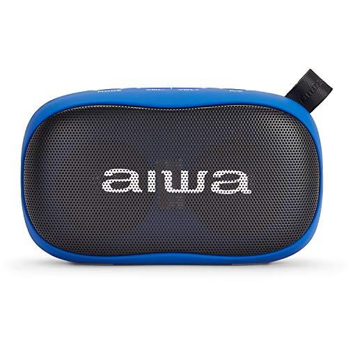 AIWA BS-110BL Tragbarer Lautsprecher, Blau, Bluetooth