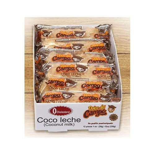 Amazon.com : Coconut Milk Candy (Leche de Coco) Puerto Ricos native soft candy - 1 oz bar (12 Bars per Box) : Grocery & Gourmet Food