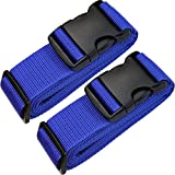 TRANVERS Luggage Strap for Suitcase Heavyduty Travel Belt Adjustable 2-Pack Blue