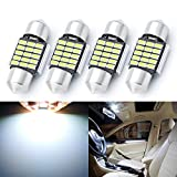 """AUTOGINE 4PCS 6614F 6641 6612F F6615F 30-WHP TS-14V1CP 6614 LED Bulbs Festoon 28MM 29MM 1.1"""" Xenon White 3014 15-EX Chipsets for Car Interior Dome Map Door Courtesy License Plate Lights"""