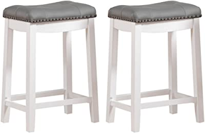 Indoor//Outdoor Stool Patio Stool Take Me Home Furniture Keeper Stool in 26 H in White