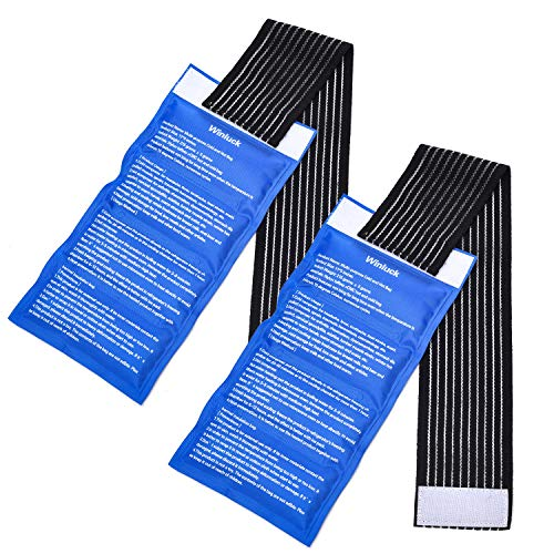 Gel Ice Cold Packs - (2-Piece Set) Soft Reusable Cold/Hot Compress, Provides Alleviate Joint and Muscle Pain. Flexible Therapy from Injuries - Shoulder, Back, Knee, Neck, Ankle & More.