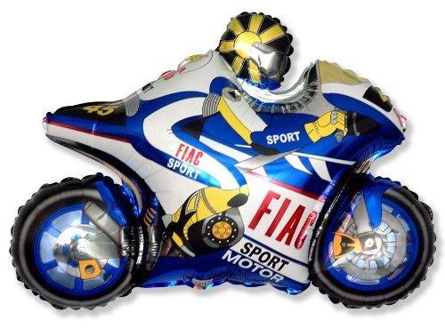 BALLOONSHOP Moto Racing Moto Palloncino 26 'Palloncino Foil - Blu