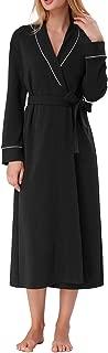 Women Kimono Robe Cotton Long Robe Bathrobe Sleepwear Ladies V-Neck Loungewear S-XXL