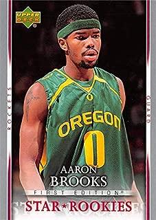 Aaron Brooks basketball card (Oregon Ducks) 2007 Upper Deck Star Rookies #225