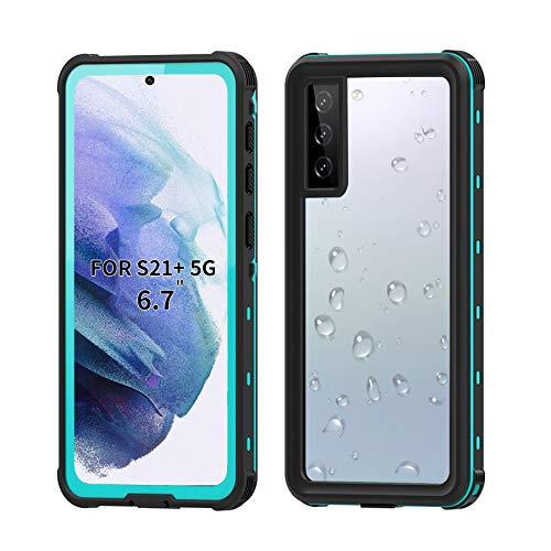 BDIG Custodia Impermeabile con Samsung Galaxy S21 Plus, IP68 Certificato Waterproof Cover Slim Antiurto Antineve Antipolvere AntiGraffio Subacquea Caso Full Protezione Impermeabile Cover per S21 Plus