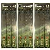 18 Braid Carp Fishing Hair Rigs Size 6,8,10 6 Of Each Sizes