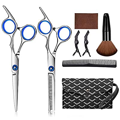 Hair Cutting Scissors Kits, 7 Pcs Stainless Ste...