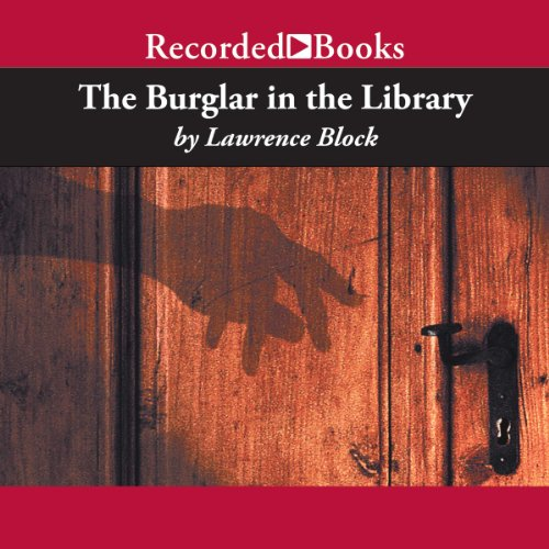 The Burglar in the Library audiobook cover art