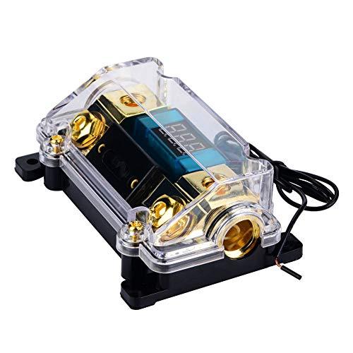 Fusible del interruptor del coche, portafusibles, compacto con la cubierta transparente estable de la exhibición del LCD para el audio del coche