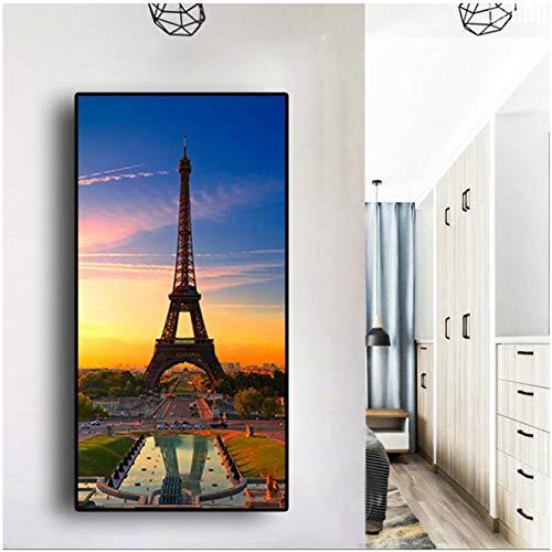 IGNIUBI Acuarela París Torre Eiffel Puesta