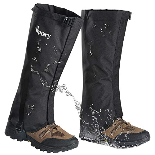 Hpory 1 Pair Hiking Leg Gaiters for Men Women Snow Boot Gators Breathable Waterproof Walking High Leg Cover, 600D Anti-Tear Oxford Cloth, for Outdoor Research Climbing Fishing Hunting Trimming Grass