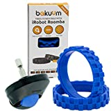 Pack 2 neumáticos + Rueda Delantera Color Azul para iRobot...