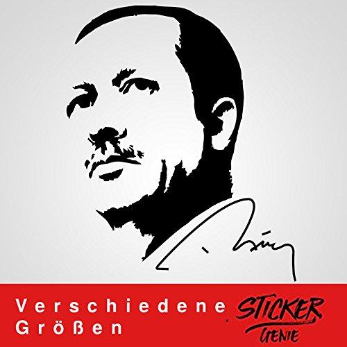 Recep Tayyip Erdogan Sticker Aufkleber Auto Autoaufkleber RTE Imza Wandtattoo (24,85cm (B) x 30cm (H) XS, Schwarz)