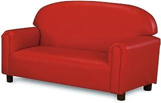 Brand New World Furniture FPVR100 Preschool Premium Vinyl Upholstery Sofa -Red