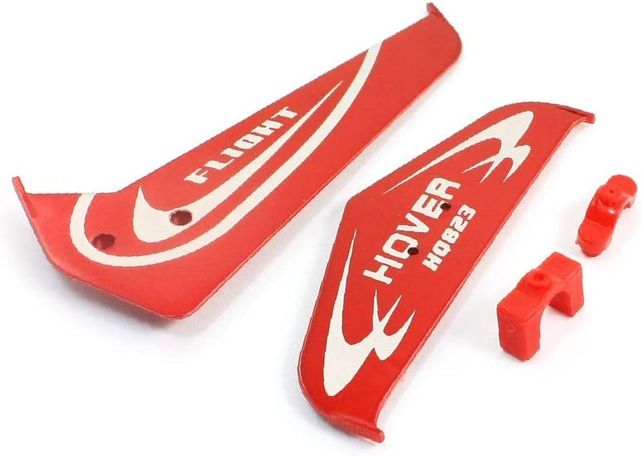 X-DREE 2pcs Red Spasm price Plastic Tail Max 52% OFF Wing RC 823A for Helicopte Aircraft